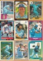 George Brett, Kansas City Royals, 9 card LOT, HOF, all cards 30+ yrs old