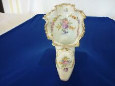 More details for dresden shoe white with gilding and lovely hand painted flowers excellent