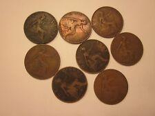 Coins British Antiques 1902 -1908 Set Of 8 Souvenirs Collectibles #986
