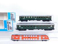 CQ776-0,5# 2x Märklin H0/AC 4141 D-Zug-/Personenwagen C4ü/16408 DRG, NEUW+OVP