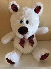 W H Smith Cream And Tartan Soft Toy Bear