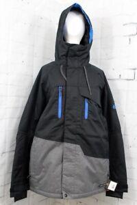 686 Men's Geo Insulated Snowboard Jacket Medium, Black Colorblock New 2020