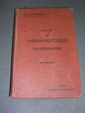 Médecine vétérinaire Traité de thérapeutique vétérinaire. Pharmacie Kaufman 1910
