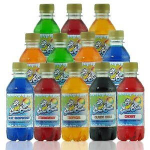 Slush Puppy Syrup 12 x 250ml Pack use with all Slush and Snow Cone Machines