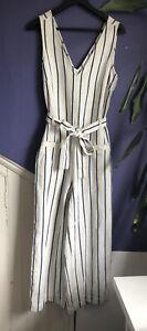 Madewell Stripe Jumpsuit Size M