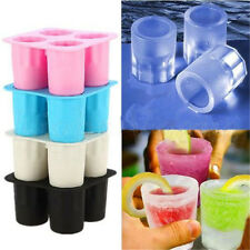 Silicone Shooters Ice Cube Shot Glass Freeze Mold Maker Tray Party Supplies Cool
