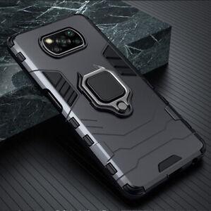 For Xiaomi poco X3 NFC Case Xiaomi Poco F2 Pro Cover Metal Ring Stand