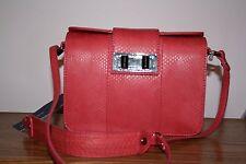 Rebecca Minkoff Mini Box Sammy Coral Red Leather Cross Body Bag NWT