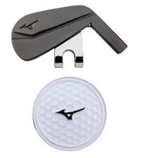 Mizuno Japan Golf Ball Cap Clip Marker Iron 5LJD192100 Black