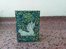 Vintage Avon Brocade Cologne Unicorn Perfume Collectible Glass Decanter W/box