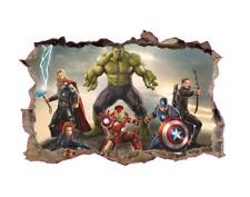 Hulk Iron Man The Avengers Wandsticker Wandtattoo Kinder Wandaufkleber Aufkleber