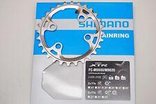 Plato redondo Shimano XTR M9000 2x11v BCD 64x4 plata 28d