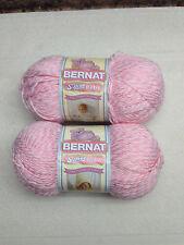 2 Skeins Bernat Softee Baby Baby Pink Marble 5 oz Sport Dk Wt #3 #30301