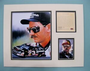 1997 DALE EARNHART SR #3 Nascar 11x14 MATTED Kelly Russell Lithograph Print