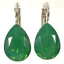 SoHo® Ohrhänger Ohrringe geschliffene Kristalle tropfen palace green opal grün