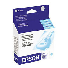 Genuine Epson T0485 T048520 light cyan ink 48 R200 R300 R300M RX340 RX600 RX500