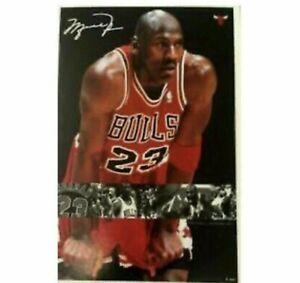 Vintage 1998 Michael Jordan #23 Poster Costacos #6386 Facsimile Signature Sealed