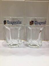 Pair of HOEGAARDEN GLASSES 25 cl BEER BELGIUM