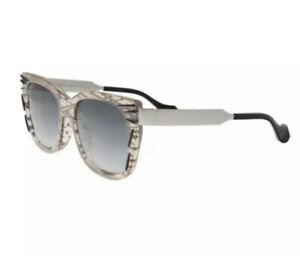 FENDI - 54mm Oversized Sunglasses Silver Smoke Women's Unisex Brand New