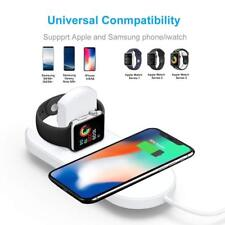 2 in 1 Qi Wireless Charger Fast Charging Pad For Apple iWatch & iPhone 8, X/XS,