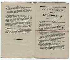 1746 Korte onderrigtinge wegens de meditatie ZH Benedictus XIV