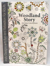 Oceanis Adult and Teen Coloring Book Woodland Story Theme