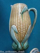 """English Majolica Corn Pitcher England c1860 7 1/2"""" tall[*]"""