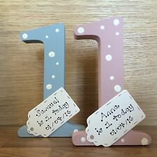 Personalised 1st birthday gift - handmade wooden number 1