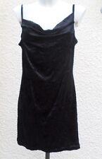 Robe  Courte ou Tunique A Bretelles Velours Froissé Noir Taille 44