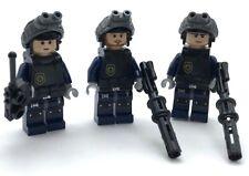 Lego 3 Neu Swat Team Minifiguren Polizisten Figuren Leute