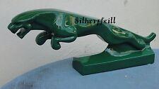Jaguar Deko Figur Groß Auto Katze Werbefigur Raubkatze Auto Lack Grün  Rep