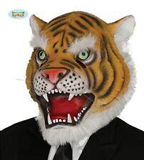 Maschera Tigre Lattice Travestimento Carnevale Adulto Animali della Savana nuovo