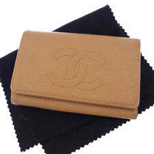 Chanel Key holder Key case COCO Beige Gold Woman Authentic Used Y3069