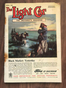 The Light Car Magazine April 1948 Ford dagenham Front Cover