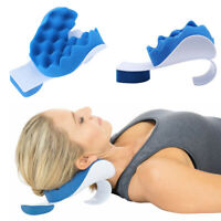 JP_ Massage Neck Head Pain Relief Traction Pillows Shoulder Relaxer Support Pi