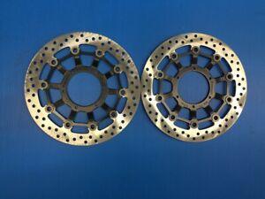 front pair brake discs yutaka for honda cb 1000 r from year 2008 to 2017 new