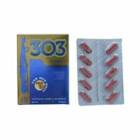 HERBAL REMEDY FOR POWER BOOSTER 303 CAPSULES INCREASES SEX POWER 10 CAPS FOR MEN