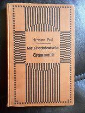 Hermann Paul: Mittelhochdeutsche Grammatik 1913 9. Auflage Oln.