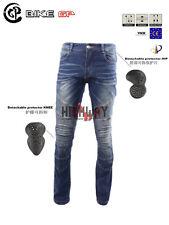 Bike GP Motorcycle Bike Distressed Pants Denim Jeans Trousers Protection Pad