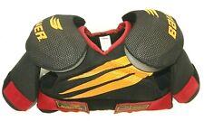New Nos Bauer Spx70 Ice Hockey Shoulder Pads Black & Red ~ Size Mens Medium