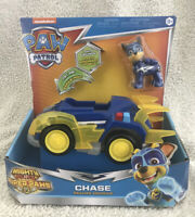 Paw Patrol Mighty Pups Super Paws CHASE Deluxe Vehicle Lights Sounds New