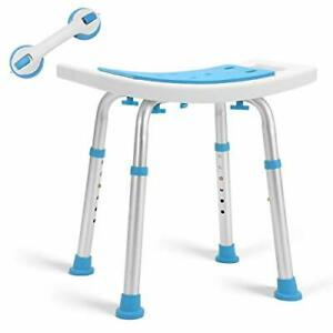 Health Line Massage Products Shower Stool 350lbs Bath Seat Chair Tool-Free As...
