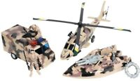 Kids Desert Camouflage Super Warrior Vehicle Play Army Toy Set