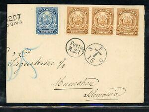 Nicaragua Postal History: LOT #14 1906 PAQUEBOT Postage Due MUNICH $$$$