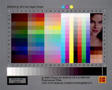 "IT8 Chart Kodak Q-60 Kalibrierung Calibration Target Durchlicht 125x100mm (4x5"")"