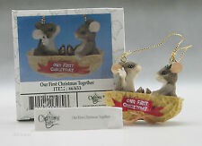 Our First Christmas Together Ornament Gift No Year Fitz & Floyd Charming Tails
