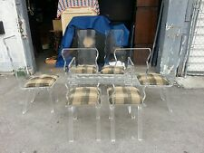 Wild Mod 70'S All Lucite Dining Set With 6 Chairs No Glass To Table Base