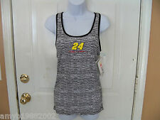 Nascar For Her Zebra Striped Jeff Gordon Tank Top Size Medium Women NEW HTF