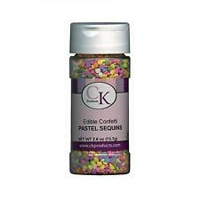 Pastel Sequins Edible Confetti Sprinkles by Ck Products - Cake Decorating