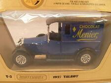 1978 MATCHBOX MODELS OF YESTERYEAR Y-5 1927 TALBOT VAN CHOCOLAT MENIER MIB